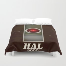 HAL 9000 Vintage magazine advertisement Duvet Cover