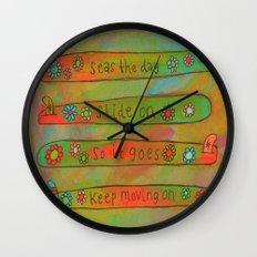 Positive Logger - Longboard Surfboards - Happy Surfers Wall Clock