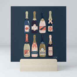 French Champagne Collection – Teal Mini Art Print