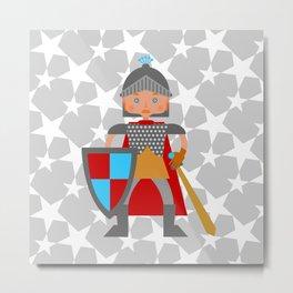 Brave medieval knight Metal Print