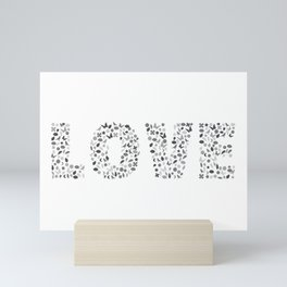 Love Typography Mini Art Print