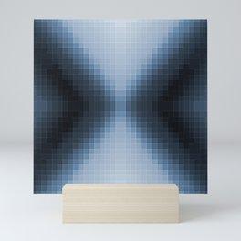 Steel Blue Pixel Arrows Mini Art Print