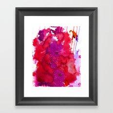 Oahu Red Framed Art Print