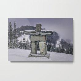 Inukshuk. Alberta. Canada. Metal Print