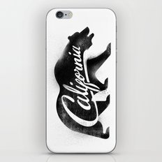 California Bear Stamp iPhone & iPod Skin
