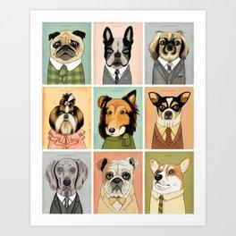 Mad Men Dogs Art Print