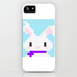 Conejo pixel iPhone Case