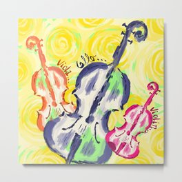 String Trio oils Metal Print