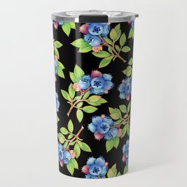 Wild Blueberry Sprigs Travel Mug