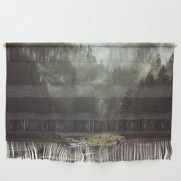 Foggy Forest Creek Wall Hanging
