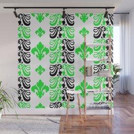 Fluer de Lis Custom Green Wall Mural