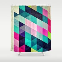spires Shower Curtains featuring Cyrvynne xyx by Spires