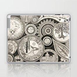 Ink Pen Collage Laptop & iPad Skin