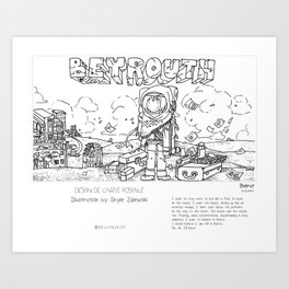 """Beirut"" in words & image (S.Zalewski) Art Print"