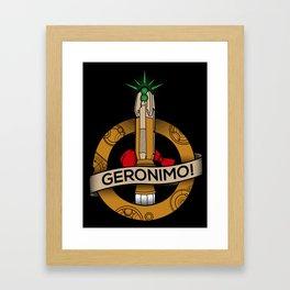 Geronimo Framed Art Print