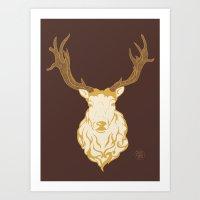 Chocolate Stag Art Print