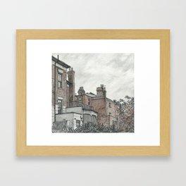 Backyard sketch Framed Art Print