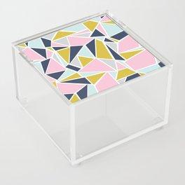 Colour Blocking Navy Pink Mustard Acrylic Box