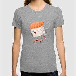 Kawaii sushi skateboarding T-shirt