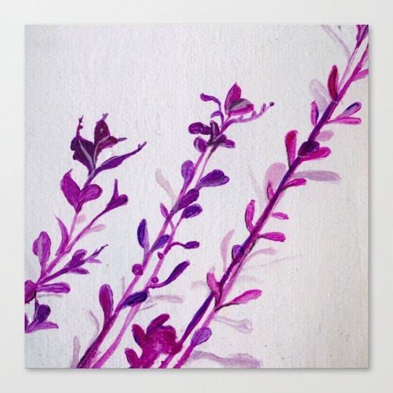 Pink Stems Canvas Print