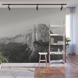 Half Dome V (black and white version) Wall Mural