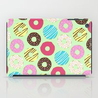 donut iPad Cases featuring Donut by Charlotte Lucy