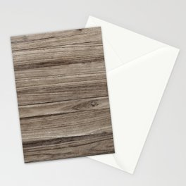 Rustic Brown Wooden Texture Background Stationery Cards