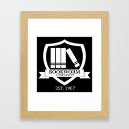 Bookworm University - Inverted Framed Art Print