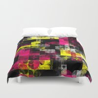 contemporary Duvet Covers featuring Contemporary Geometric by Idle Amusement