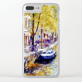 Amsterdam Canal Clear iPhone Case