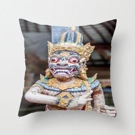 Ogoh-Ogoh Staute Throw Pillow