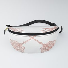 Tribal Arrows Rose Gold on White Fanny Pack