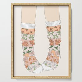 Spring Socks Serving Tray