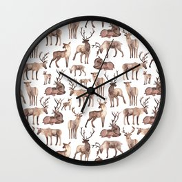 Christmas Reindeer.  Wall Clock