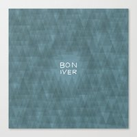 bon iver Canvas Prints featuring BON IVER by Oliver Shilling