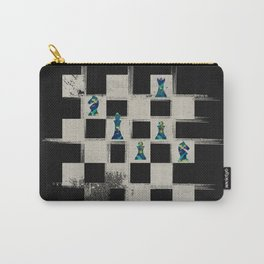 Chessboard and Marble Chess Pieces composition Carry-All Pouch