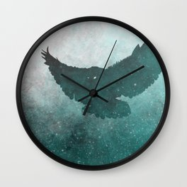 Owl Silhouette | Swooping Owl Ghost | Space Owl Wall Clock