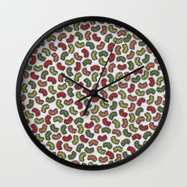 Colorful Bacteria Pattern Wall Clock