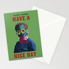 Welcome to California, Have a nice day Stationery Cards