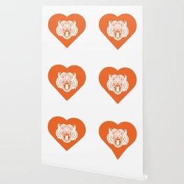 Tiger Mascot Cares Orange Wallpaper