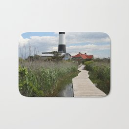 Fire Island Light With Reflection - Long Island Bath Mat
