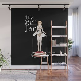 The Bell Jar by Sylvia Plath Illustration Wall Mural