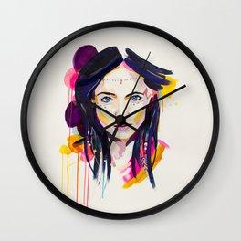 Cactus Flower - by Jen Sievers Wall Clock