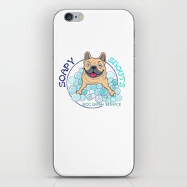 soapy snouts logo2 iPhone Skin