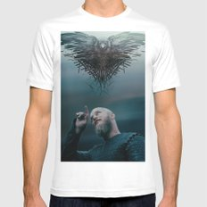 Raven White Mens Fitted Tee MEDIUM