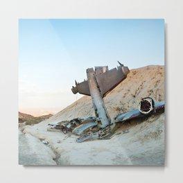 Desert Plane Wreckage Metal Print