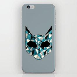 Turquoise Cat iPhone Skin