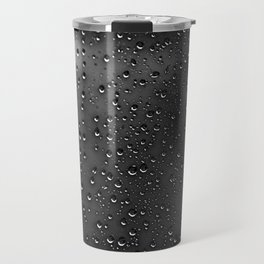Black and White Rain Drops; Abstract Travel Mug