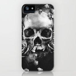 SKULL & ROSES II iPhone Case