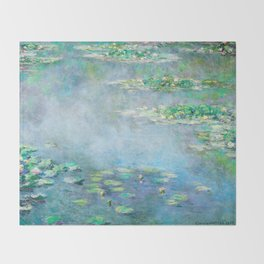 Monet Water Lilies / Nymphéas 1906 Throw Blanket